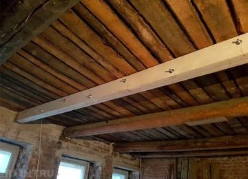 Как усилить деревянные балки перекрытия от прогиба
