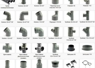 Сантехнические трубы и переходники ПВХ для канализации и водопровода