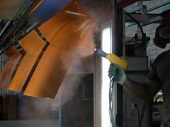Процесс покраски оцинкованного листа