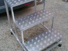 Лестница подставка из алюминия