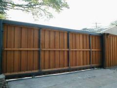 Ворота из швеллерной балки